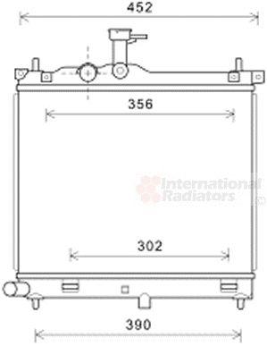 Radiateur, refroidissement du moteur - VAN WEZEL - 82002291
