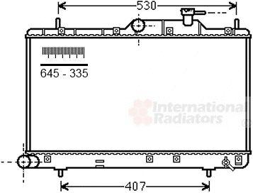 Radiateur, refroidissement du moteur - VAN WEZEL - 82002307