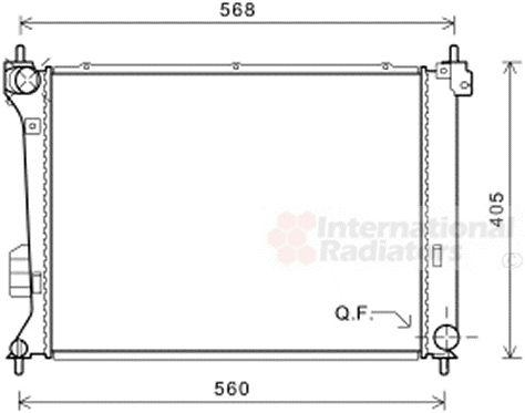 Radiateur, refroidissement du moteur - VWA - 88VWA82002309