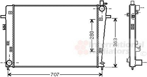 Radiateur, refroidissement du moteur - VAN WEZEL - 82002328