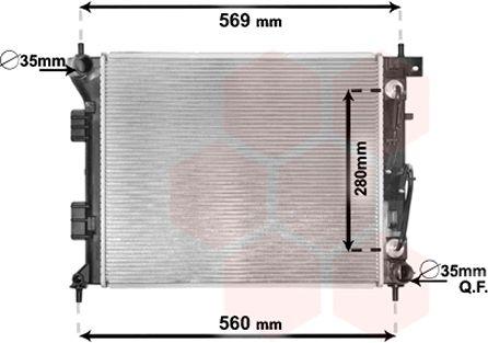 Radiateur, refroidissement du moteur - VAN WEZEL - 82002351