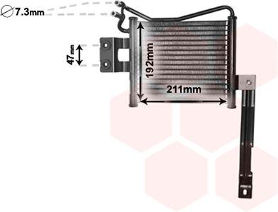 Radiateur d'huile - VAN WEZEL - 82003331