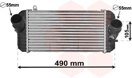 Intercooler, échangeur - VAN WEZEL - 82004326