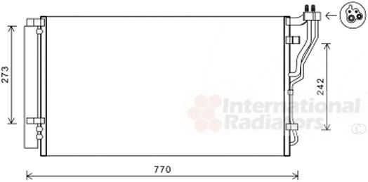Condenseur, climatisation - VAN WEZEL - 82005246