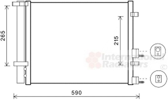Condenseur, climatisation - VAN WEZEL - 82005249