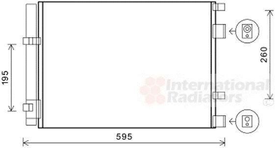 Condenseur, climatisation - VAN WEZEL - 82005268