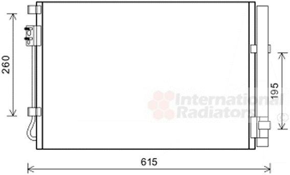 Condenseur, climatisation - VAN WEZEL - 82005269