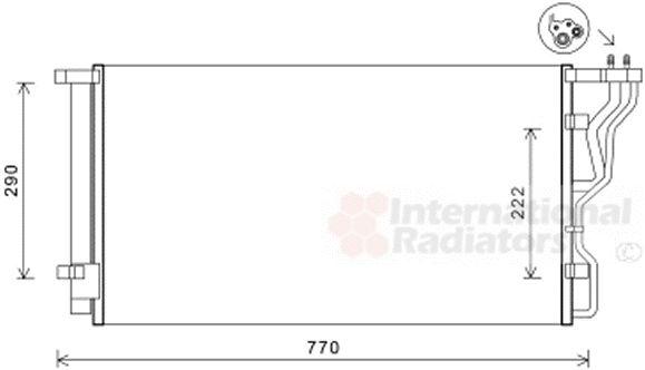 Condenseur, climatisation - VAN WEZEL - 82005298