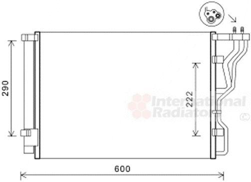 Condenseur, climatisation - VAN WEZEL - 82005299