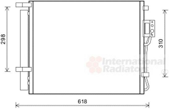 Condenseur, climatisation - VAN WEZEL - 82005310