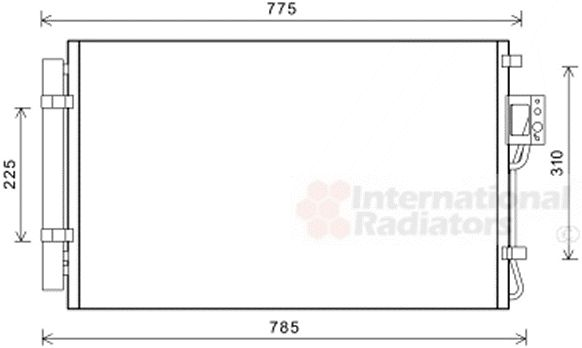 Condenseur, climatisation - VAN WEZEL - 82005311