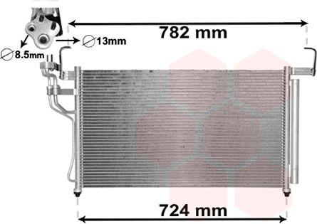 Condenseur, climatisation - VAN WEZEL - 82005315