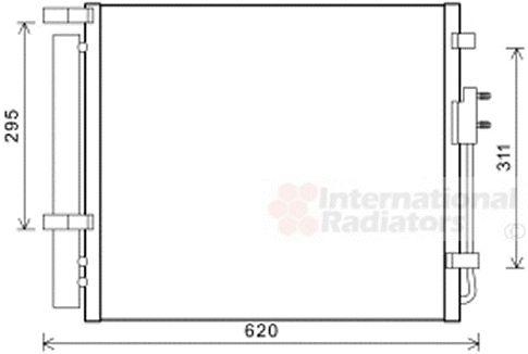 Condenseur, climatisation - VAN WEZEL - 82005343