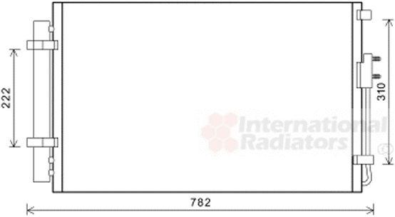 Condenseur, climatisation - VAN WEZEL - 82005344
