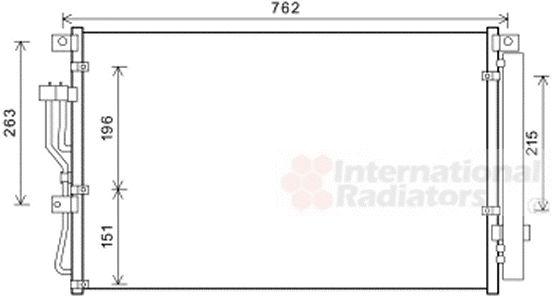 Condenseur, climatisation - VAN WEZEL - 82005345