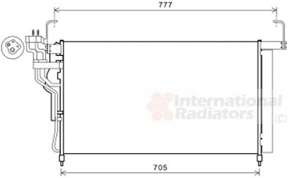 Condenseur, climatisation - VAN WEZEL - 82005347