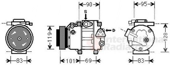 Compresseur, climatisation - VAN WEZEL - 8200K237