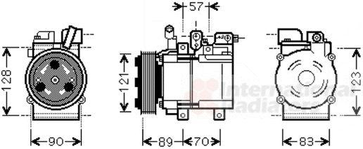 Compresseur, climatisation - VAN WEZEL - 8200K257
