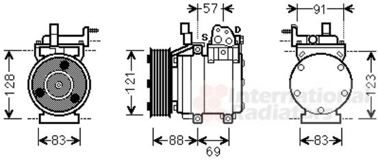 Compresseur, climatisation - VWA - 88VWA8200K258