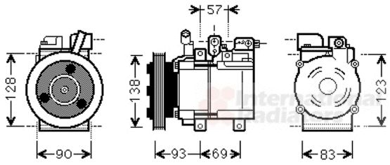 Compresseur, climatisation - VAN WEZEL - 8200K259