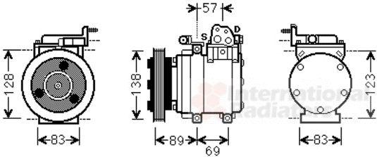 Compresseur, climatisation - VAN WEZEL - 8200K260