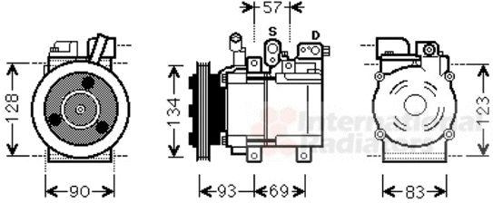 Compresseur, climatisation - VAN WEZEL - 8200K264