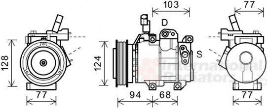 Compresseur, climatisation - VAN WEZEL - 8200K318