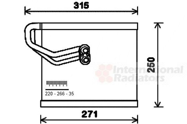 Evaporateur climatisation - VAN WEZEL - 8200V271