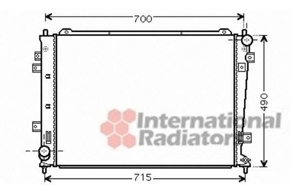 Radiateur, refroidissement du moteur - VAN WEZEL - 83002162