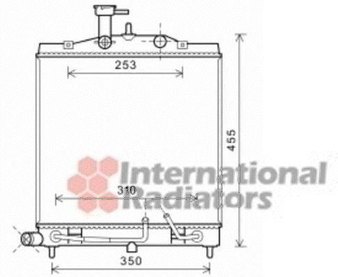 Radiateur, refroidissement du moteur - VAN WEZEL - 83002163