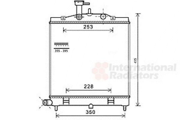 Radiateur, refroidissement du moteur - VAN WEZEL - 83002171