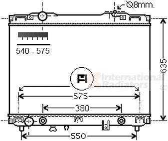 Radiateur, refroidissement du moteur - VAN WEZEL - 83002175