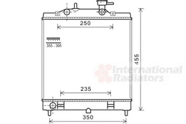 Radiateur, refroidissement du moteur - VWA - 88VWA83002182