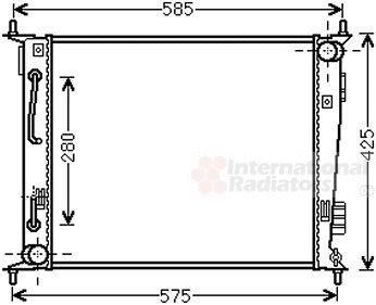 Radiateur, refroidissement du moteur - VAN WEZEL - 83002185