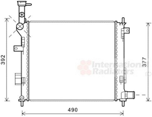 Radiateur, refroidissement du moteur - VAN WEZEL - 83002189