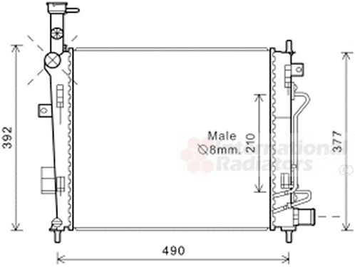 Radiateur, refroidissement du moteur - VAN WEZEL - 83002190