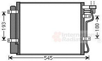 Condenseur, climatisation - VAN WEZEL - 83005134