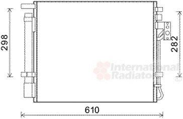 Condenseur, climatisation - VAN WEZEL - 83005149