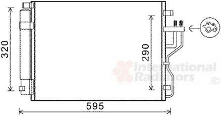 Condenseur, climatisation - VAN WEZEL - 83005151