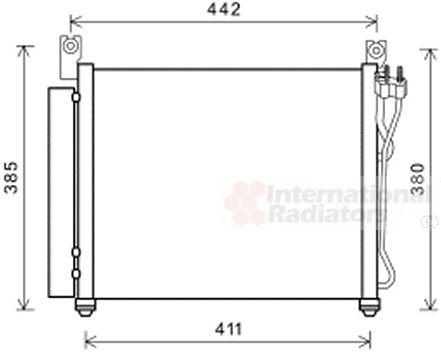 Condenseur, climatisation - VAN WEZEL - 83005158