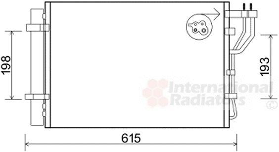 Condenseur, climatisation - VAN WEZEL - 83005206