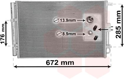 Condenseur, climatisation - VWA - 88VWA83005229