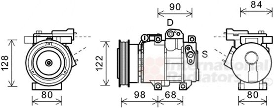 Compresseur, climatisation - VAN WEZEL - 8300K192