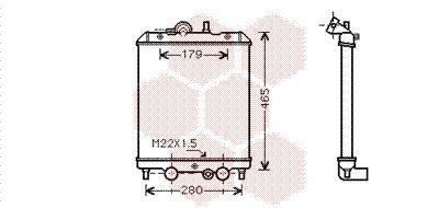 Radiateur, refroidissement du moteur - VAN WEZEL - 92002001