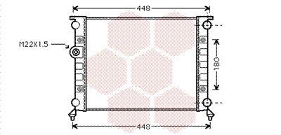 Radiateur, refroidissement du moteur - VAN WEZEL - 98002002
