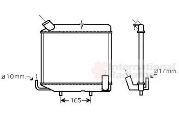 Radiateur, refroidissement du moteur - VAN WEZEL - 98002004