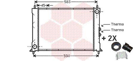 Radiateur, refroidissement du moteur - VAN WEZEL - 02002068