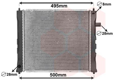 Radiateur, refroidissement du moteur - VAN WEZEL - 02002097