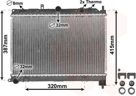 Radiateur, refroidissement du moteur - VWA - 88VWA02002118