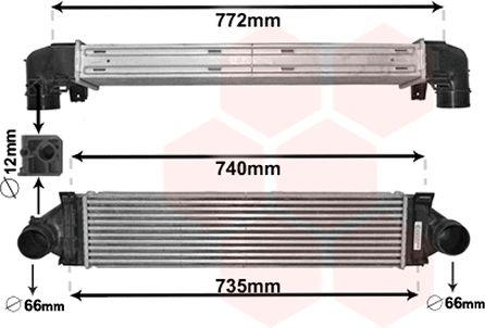 Intercooler, échangeur - VAN WEZEL - 02004218